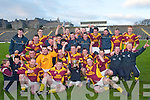 Duaghsome! The triumphant Duagh team and supporters celebrate after their triumph in the Munster Junior Club Football final over Adrigole.