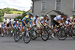 The peloton winds its way through Inistioge village during Stage1 of the 2009 Tour of Ireland, running 196km from the Ritz-Carlton Hotel Powerscourt, Enniskerry to Waterford, Ireland. 21st August 2009.<br /> (Photo by Eoin Clarke/NEWSFILE)