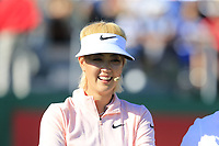 Omega Celebrity Masters putting challenge with Michelle Wie (USA) on the 18th green at the end of Saturday's Round 3 of the 2018 Omega European Masters, held at the Golf Club Crans-Sur-Sierre, Crans Montana, Switzerland. 8th September 2018.<br /> Picture: Eoin Clarke | Golffile<br /> <br /> All photos usage must carry mandatory copyright credit (&copy; Golffile | Eoin Clarke)