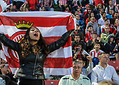 June 4th 2017, Estadi Montilivi,  Girona, Catalonia, Spain; Spanish Segunda División Football, Girona versus Zaragoza; A Girona fan during the match as they hold out for a draw and promotion