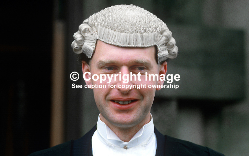 Thomas John Hazlett, barrister, Rep of Ireland, on the occasion of his being called to the N Ireland Bar. 19840084TJH.<br />
