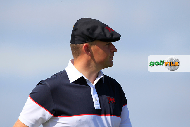 Harry Hall (GB&I) on the 2nd tee during Day 2 Singles at the Walker Cup, Royal Liverpool Golf CLub, Hoylake, Cheshire, England. 08/09/2019.<br /> Picture Thos Caffrey / Golffile.ie<br /> <br /> All photo usage must carry mandatory copyright credit (© Golffile   Thos Caffrey)