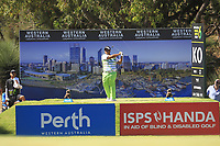 Kiradech Aphibarnrat (THA) in action on the 6th during the Matchplay Semi-Final of the ISPS Handa World Super 6 Perth at Lake Karrinyup Country Club on the Sunday 11th February 2018.<br /> Picture:  Thos Caffrey / www.golffile.ie<br /> <br /> All photo usage must carry mandatory copyright credit (&copy; Golffile | Thos Caffrey)