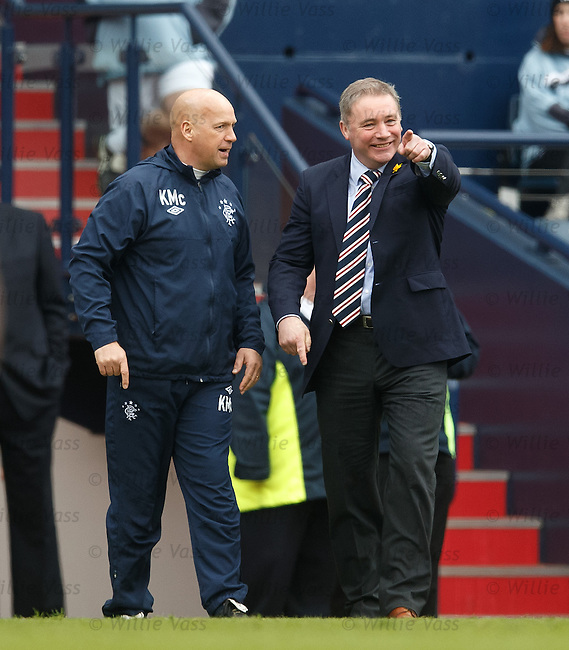 Ally McCoist smiling after goal no 4