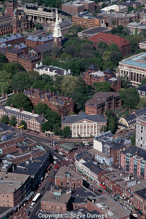 Harvard Square aerial view, Cambridge, MA