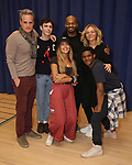 """Michael Park, Ben Levi Ross, Maia Reficco, Brandon Victor Dixon Rachel Bay Jones, Khamary Grant during the press rehearsal for Kennedy Center's Broadway Center Stage production of  """"Next To Normal""""  at The New 42nd Street Studios  on January 16, 2020 in New York City."""
