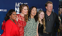 "HOLLYWOOD, LOS ANGELES, CA, USA - APRIL 29: Chandra Wilson, Sarah Drew, Sandra Oh, Kevin McKidd at the Los Angeles Premiere Of TriStar Pictures' ""Mom's Night Out"" held at the TCL Chinese Theatre IMAX on April 29, 2014 in Hollywood, Los Angeles, California, United States. (Photo by Xavier Collin/Celebrity Monitor)"