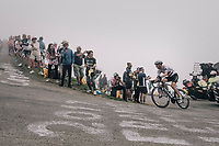 race leader Steve Cummings (GBR/Dimension Data) up the Port de Bal&egrave;s (HC/1755m/11.7km/7.7%)<br /> <br /> 104th Tour de France 2017<br /> Stage 12 - Pau &rsaquo; Peyragudes (214km)
