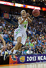 Apr 7, 2013; Notre Dame Skylar Diggins gets the ball stripped from her as she goes up for a shot during the second half of the semifinals against Connecticut of the 2013 NCAA women's basketball Final Four at the New Orleans Arena. Connecticut defeated Notre Dame 83 to 65. Photo by Barbara Johnston/ University of Notre Dame