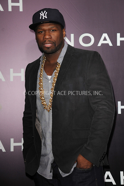 WWW.ACEPIXS.COM<br /> March 26, 2014 New York City<br /> <br /> Curtis &quot;50 Cent&quot; Jackson attending the 'Noah' New York premiere at Ziegfeld Theatre on March 26, 2014 in New York City.<br /> <br /> Please byline: Kristin Callahan<br /> <br /> ACEPIXS.COM<br /> <br /> Tel: (212) 243 8787 or (646) 769 0430<br /> e-mail: info@acepixs.com<br /> web: http://www.acepixs.com
