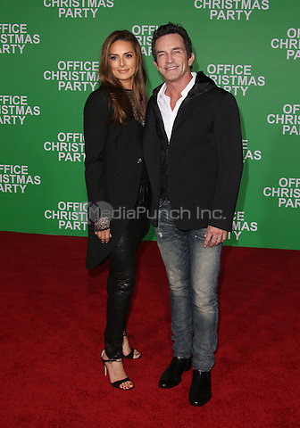 "Westwood, CA - DECEMBER 07: Jeff Probst, Lisa Ann Russell, At Premiere Of Paramount Pictures' ""Office Christmas Party"" At Regency Village Theatre, California on December 07, 2016. Credit: Faye Sadou/MediaPunch"