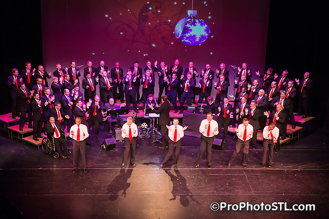 Gateway Men's Chorus in concert at Edison Theatre in St. Louis, MO on Dec 13, 2013.
