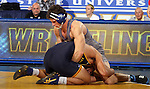 BROOKINGS, SD - NOVEMBER 9:  Shea Nolan from South Dakota State tries to control Alex DeCiantis from Drexel in their 184 pound match Saturday at Frost Arena. (Photo by Dave Eggen/Inertia)