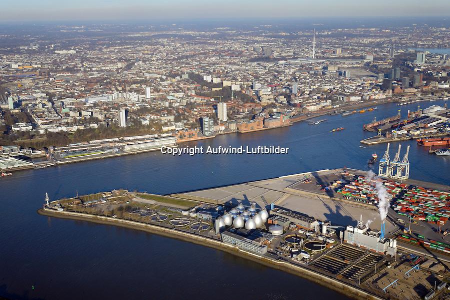 Tollerortspitze Hafenausbau: EUROPA, DEUTSCHLAND, HAMBURG 02.12.2016 Tollerortspitze, Hafenausbau,
