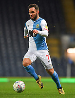 Man of the match, Adam Armstrong on the ball<br /> <br /> Photographer Dave Howarth/CameraSport<br /> <br /> The EFL Sky Bet Championship - Blackburn Rovers v Hull City - Tuesday 11th February 2020 - Ewood Park - Blackburn<br /> <br /> World Copyright © 2020 CameraSport. All rights reserved. 43 Linden Ave. Countesthorpe. Leicester. England. LE8 5PG - Tel: +44 (0) 116 277 4147 - admin@camerasport.com - www.camerasport.com