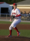 August 24, 2004:  Pitcher Kyle Kendrick of the Batavia Muckdogs, Short-Season Single-A affiliate of the Philadelphia Phillies, during a game at Dwyer Stadium in Batavia, NY.  Photo by:  Mike Janes/Four Seam Images