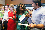 Duke med students Malini Veerappan and Ro Tejwani react after they both got their first choice during Match Day at Duke University School of Medicine's Trent Semans Center on Friday, March 17, 2017. Veerappan is headed to Stanford to pursue ophthalmology and Tejwani is staying at Duke to do his residency in urology. At left, Riikka Nomides opens her envelope as husband Charlie and his niece Cali look on. Nomides matched at UT San Antonio for orthopaedic surgery.
