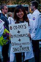 Rally for Single Payer Health Care Chicago Illinois 10-1-15