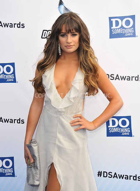WWW.ACEPIXS.COM....August 19,2012, Santa Monica, CA.....Lea Michele arriving at the 2012 Do Something Awards at Barker Hangar on August 19, 2012 in Santa Monica, California.........By Line: Peter West/ACE Pictures....ACE Pictures, Inc..Tel: 646 769 0430..Email: info@acepixs.com