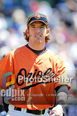 21 May 2007:  Baltimore Orioles outfielder Jay Gibbons talks with teammates at Doubleday Field prior to Baseball's Annual Hall of Fame Game in Cooperstown, NY. The Orioles defeated the visiting Toronto Blue Jays 13-7...Mandatory Credit: Ed Wolfstein Photo