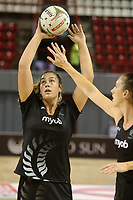 JOHANNESBURG, SOUTH AFRICA - JANUARY 25: Maia Wilson of the Silver Ferns warming up during the Netball Quad Series netball match between Spar Proteas and Silver Ferns at the Ellis Park Arena in Johannesburg. Mandatory Photo Credit: ©Reg Caldecott/Michael Bradley Photography