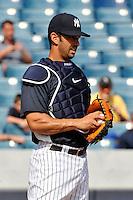 Feb 23, 2010; Tampa, FL, USA; New York Yankees  catcher Jorge Posada (20) during  team workout at George M. Steinbrenner Field. Mandatory Credit: Tomasso De Rosa