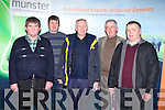 BREEDING GROUP: Attending the Munster Cattle Breeding Group Dairy seminar at the Ballyroe Heights hotel, Tralee on Thursday l-r: Patrick Kirby, Ballyheigue, Paudie Shehy, Linaw, Pat Walsh, Causeway, Dick Kissane, Lisselton and John Brosnan, Ballymac.