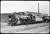 D&amp;RGW #486 K-36 and #490 K-37 by engine house at Chama.<br /> D&amp;RGW  Chama, NM
