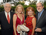 From left Gene and Astrid Van Dyke with Karen and Rudy   Wildenstein at the Rose Ribbon Dinner at Fleming's Prime Steakhouse Thursday June 04,2009.(Dave Rossman/For the Chronicle)