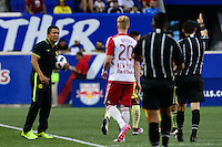 Harrison, NJ - Wednesday July 06, 2016: Ignacio Ambriz during a friendly match between the New York Red Bulls and Club America at Red Bull Arena.