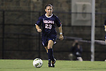 29 September 2011: Virginia's Erica Hollenberg. The Duke University Blue Devils and the University of Virginia Cavaliers played to a 0-0 tie after overtime at Koskinen Stadium in Durham, North Carolina in an NCAA Division I Women's Soccer game.