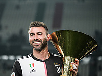 Andrea Barzagli of Juventus celebrates with the trophy the victory of italian championship <br /> Torino 19-05-2018 Allianz Stadium Football Serie A 2018/2019 Juventus - Atalanta  <br /> photo One Nine / Insidefoto