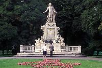 Mozart, Vienna, Austria, Wien, Wolfgang Amadeus Mozart Monument in Burggarten