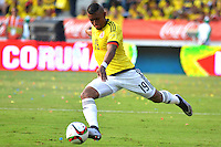 BARRANQUILLA - COLOMBIA -29-03-2016: Farid Diaz jugador de Colombia en acción durante partido con Ecuador de la fecha 6 para la clasificación sudamericana a la Copa Mundial de la FIFA Rusia 2018 jugado en el estadio Metropolitano Roberto Melendez en Barranquilla./  Farid Diaz (L) player of Colombia in action during the match against Ecuador of the date 6 for the qualifier to FIFA World Cup Russia 2018 played at Metropolitan stadium Roberto Melendez in Barranquilla. Photo: VizzorImage / Alfonso Cervantes / Cont