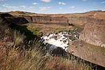 Minor falls and rapids on the Palouse RIver, Palouse Falls State Park, Washington.