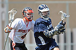 Beverly Hills, CA 04/12/10 - Alexander Kutsukos (Loyola # 2) and Ryan Lockhart (Beverly Hills # 4) in action during the Loyola-Beverly Hills Boys Varsity Lacrosse game at Beverly Hills High School, Loyola defeated Beverly Hills 16-0.