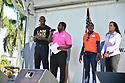 MIRAMAR,  FLORIDA - JANUARY 20: City of Miramar Mayor Wayne Messam, City of Miramar Commissioner Maxwell B. Chambers, City of Miramar Vice Mayor Alexandra P. Davis and City of Miramar Commissioner Yvette Colbourne attend the annual Reverend Dr. Martin Luther King, Jr. Day celebration City Miramar MLK Parades between Sherman Cirrcle and Lakeshore Park on January 20, 2020 in Miramar, Florida.  ( Photo by Johnny Louis / jlnphotography.com )