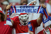FUSSBALL  EUROPAMEISTERSCHAFT 2012   VIERTELFINALE Tschechien - Portugal              21.06.2012 Fussballfan aus Tschechien