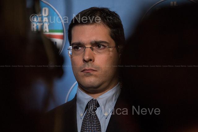 18:01 - On. Daniele Capezzone, member of the Chamber of Deputies and spokesman for the PDL. <br /> <br /> Rome, 25/02/2013. Reportage covering the second day of the Italian General Election, including the campaign HQ's of the Rivoluzione Civile - Antonio Ingroia, the PDL (Popolo della Libert&aacute;) - Silvio Berlusconi, and the Scelta Civile - Mario Monti.