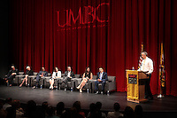 150727 LSU Chancellor Alexander at UMBC with Sec. Duncan