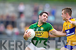 Bryan Sheehan, Kerry in action against Shane Hickey, Clare in the Munster Senior Championship Semi Final in Cusack Park, Ennis on Sunday.