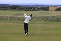 Chris Wood (ENG) on the 4th fairway during round 4 of the Alfred Dunhill Links Championship at Old Course St. Andrew's, Fife, Scotland. 07/10/2018.<br /> Picture Thos Caffrey / Golffile.ie<br /> <br /> All photo usage must carry mandatory copyright credit (&copy; Golffile | Thos Caffrey)