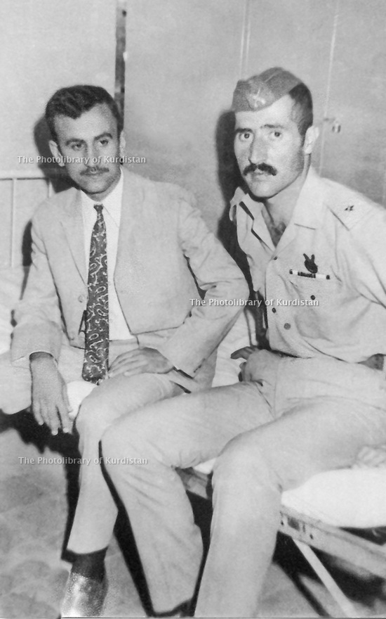 Iraq 1970 <br /> Left, Mullazem Omar Abdallah , cadet with a friend  <br /> Irak 1970 <br /> A gauche, Mullazem Omar Abdallah , eleve-officier, avec un ami