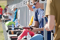 Competitors prepare during the Modern Pentathlon Women's World Cup held in Budapest, Hungary on May 07, 2011. ATTILA VOLGYI