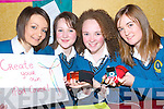 iPOD COVERS: Mercy Mounthawk Students Yana Makliassova, Rosie O'Dowd, Julianne O'Leary and Joanne O'Connor, finalists in the Kerry County Enterprise Boards' Annual Student Enterprise Awards on Tuesday with their project which involved the production of covers for mobile phones, MP3 players and iPods.   Copyright Kerry's Eye 2008