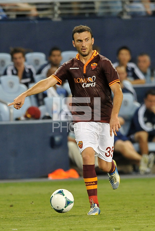 Sporting Park, Kansas City, Kansas, July 31 2013:<br /> Vasillis Torosidis (35) defender AS Roma in action.<br /> MLS All-Stars were defeated 3-1 by AS Roma at Sporting Park, Kansas City, KS in the 2013 AT &amp; T All-Star game.