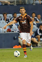 Sporting Park, Kansas City, Kansas, July 31 2013:<br /> Vasillis Torosidis (35) defender AS Roma in action.<br /> MLS All-Stars were defeated 3-1 by AS Roma at Sporting Park, Kansas City, KS in the 2013 AT & T All-Star game.