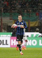 Calcio, Coppa Italia: semifinale di ritorno Inter vs Juventus. Milano, stadio San Siro, 2 marzo 2016. <br /> FC Inter&rsquo;s Ivan Perisic celebrates after scoring during the Italian Cup second leg semifinal football match between Inter and Juventus at Milan's San Siro stadium, 2 March 2016.<br /> UPDATE IMAGES PRESS/Isabella Bonotto