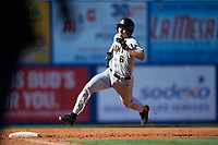 Army West Point shortstop Trey Martin (6) rounds third base on his way to score the go ahead run in the top of the eighth inning during a game against the Michigan Wolverines on February 17, 2018 at First Data Field in St. Lucie, Florida.  Army defeated Michigan 4-3.  (Mike Janes/Four Seam Images)