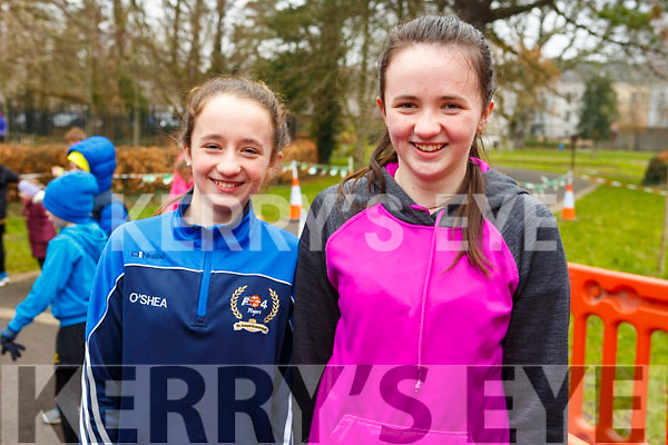 Doireann and Aine O'Shea from Tralee attending the Junior Parkrun in the Tralee Town park on Sunday morning last.